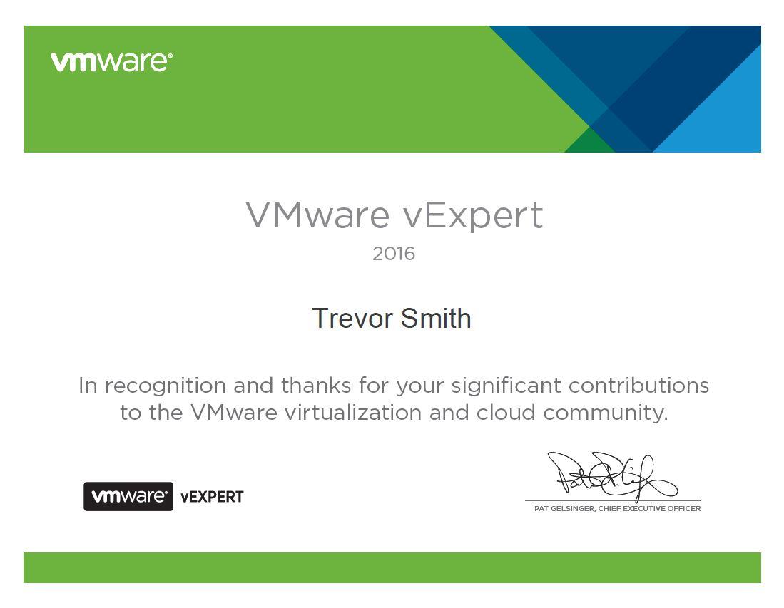 VMware vExpert 2016